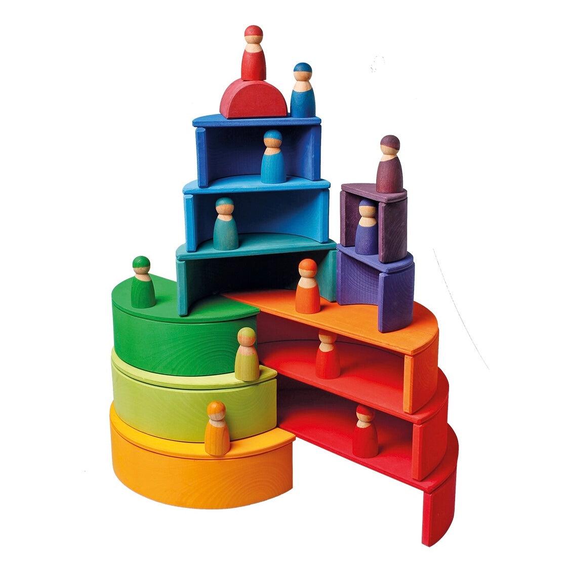 Grimm's Large Rainbow Semi-circles – Barefoot Toys