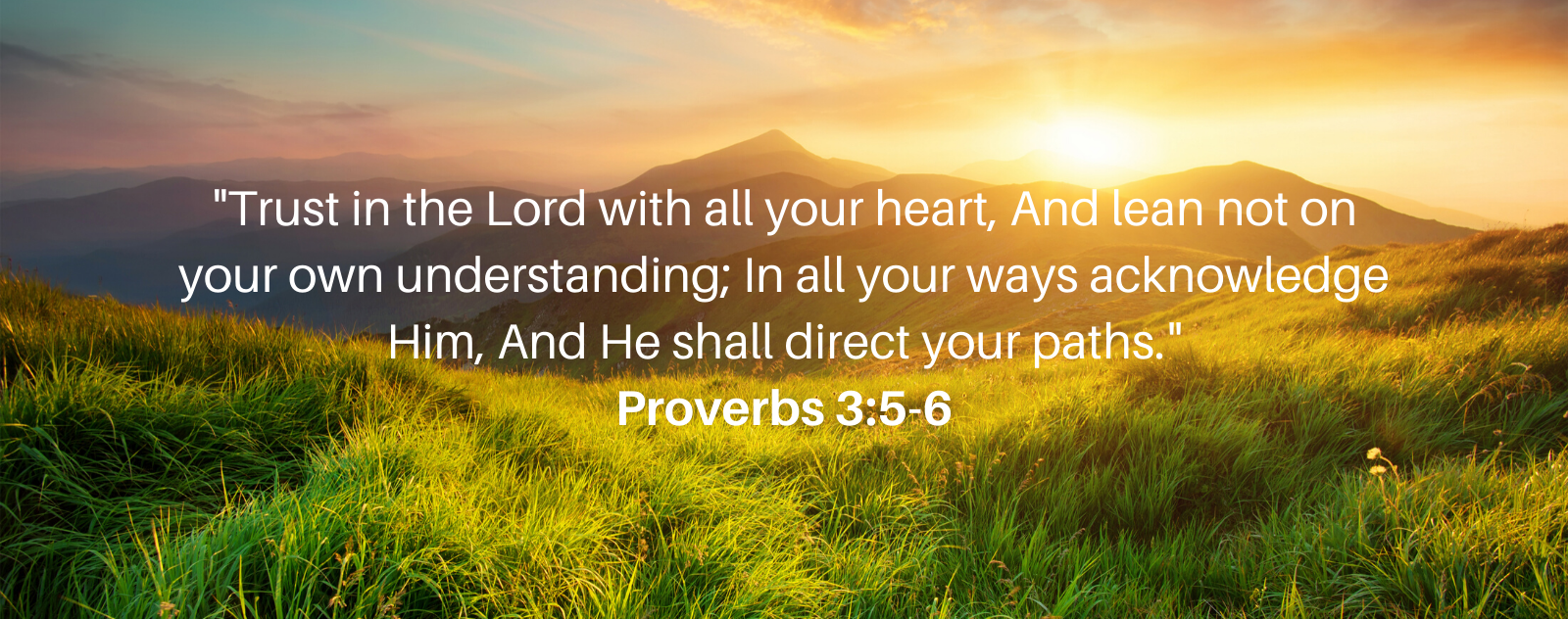 """""""Trust in the Lord"""" The Meaning of Proverbs 3:5-6 