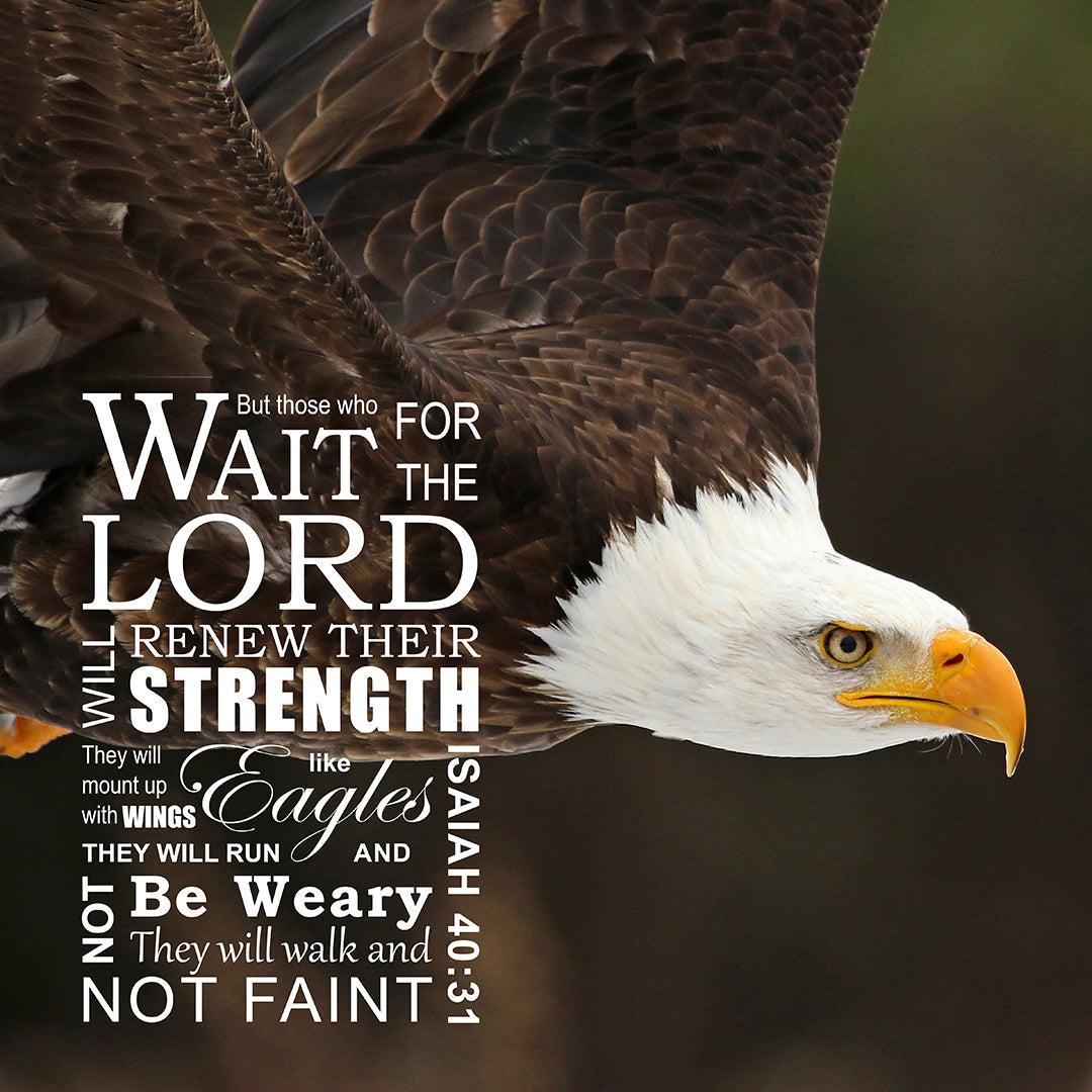 Isaiah 40:31 Wings Like Eagles - Free Bible Verse Art ...