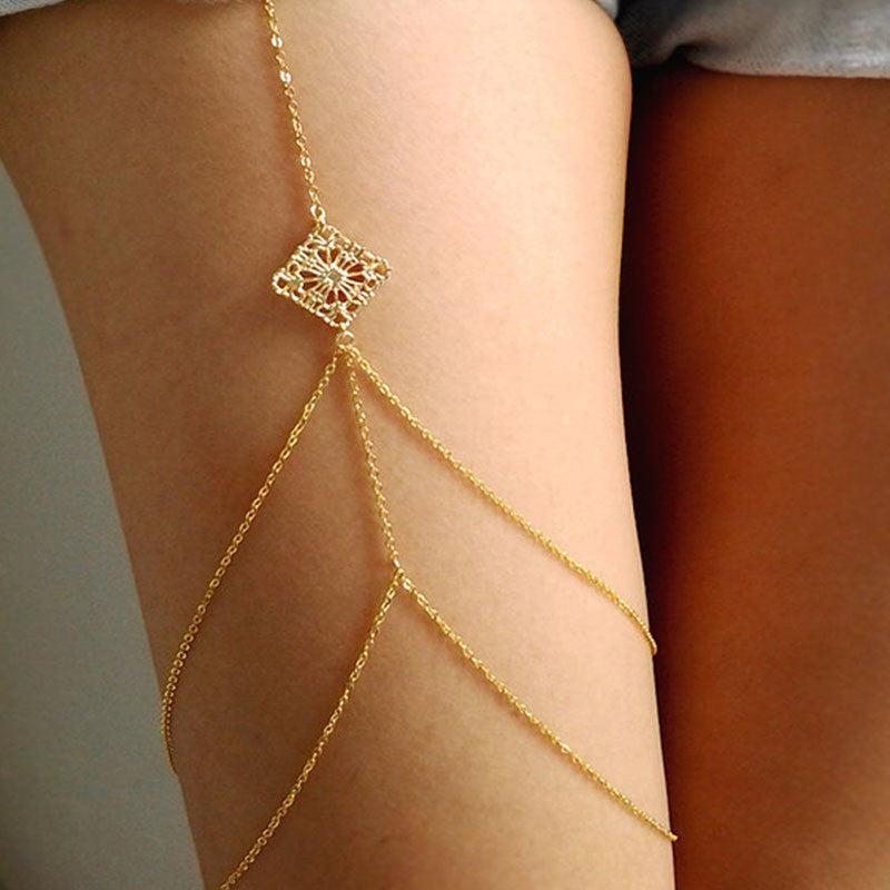 Women Body Jewelry Handmade Chain Tassel Thigh Leg Chain ...