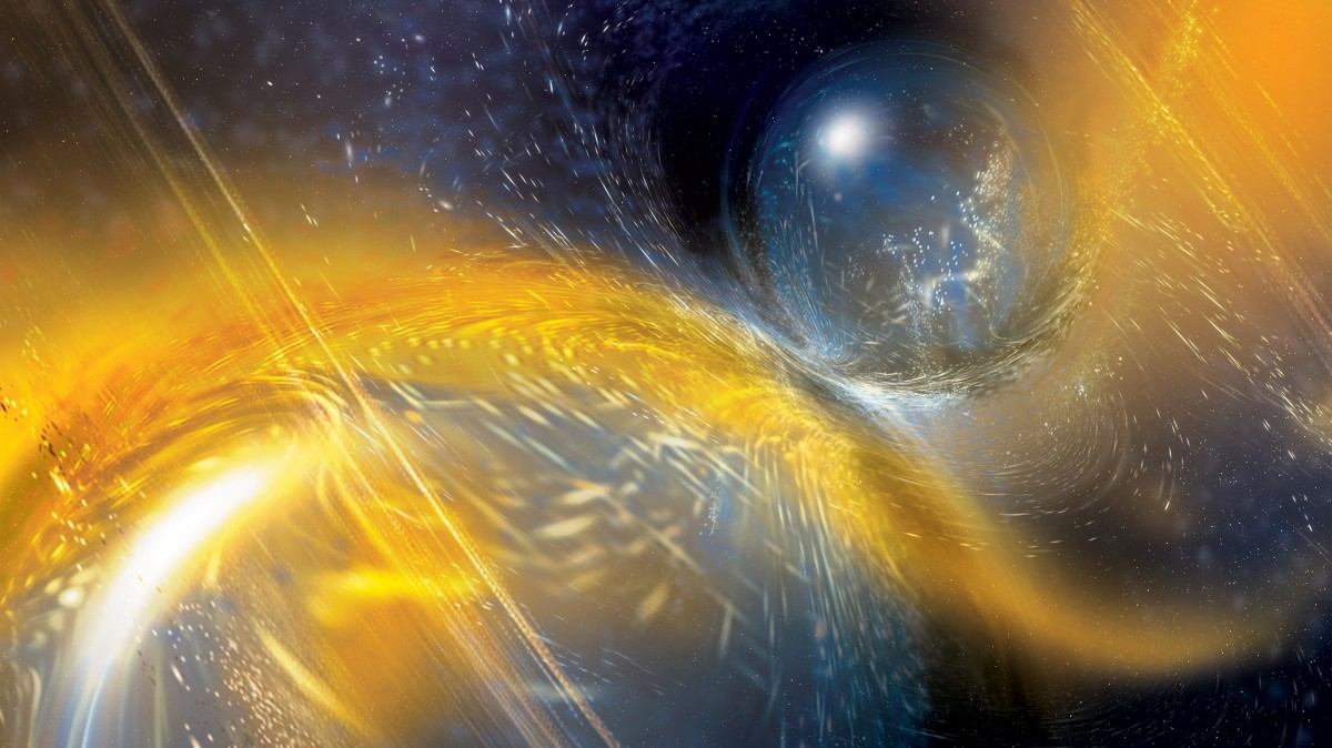 Gravitational waves: Cosmic vibrations sensed from unusual star merger