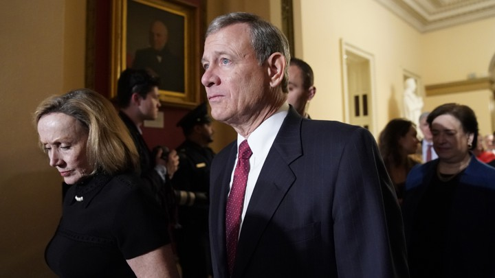 Roberts, senators to be sworn in Thursday for impeachment trial. He will then swear in all 100 senators, according to the aide…