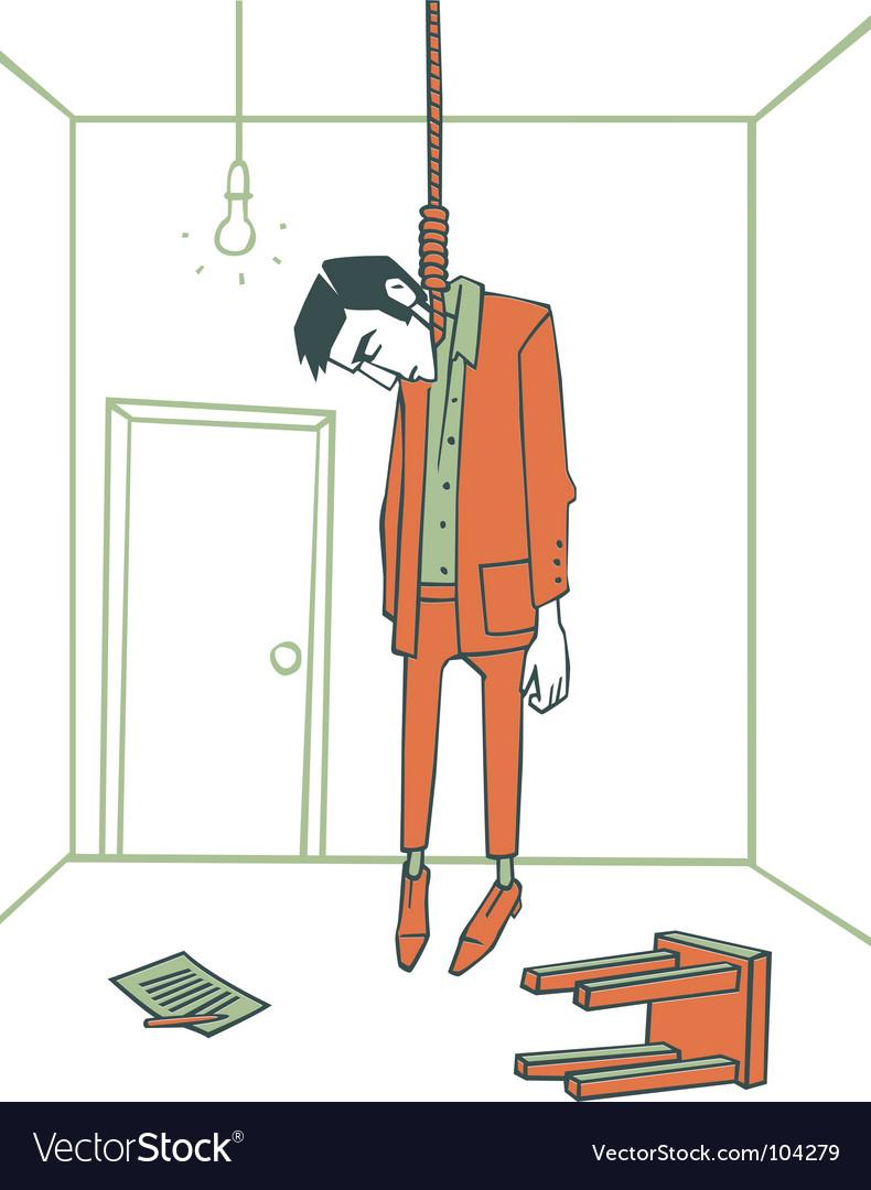The hanged man Royalty Free Vector Image - VectorStock