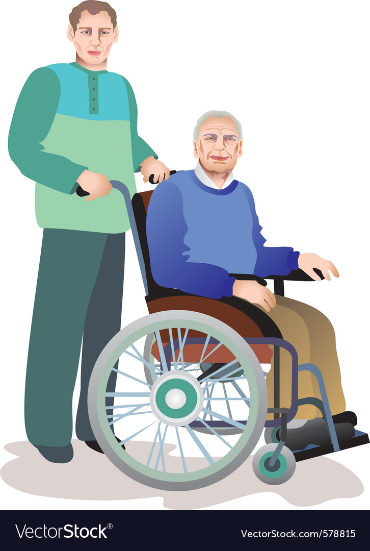 Old people Royalty Free Vector Image - VectorStock