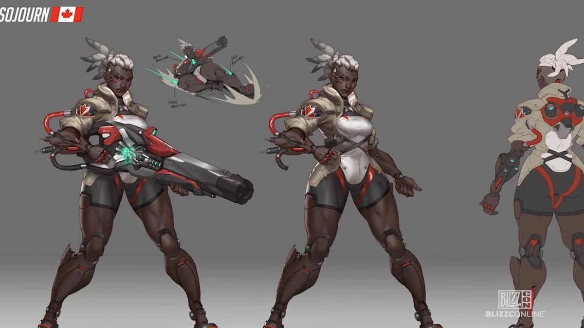 Overwatch 2: First hero Sojourn teased in BlizzCon video ...