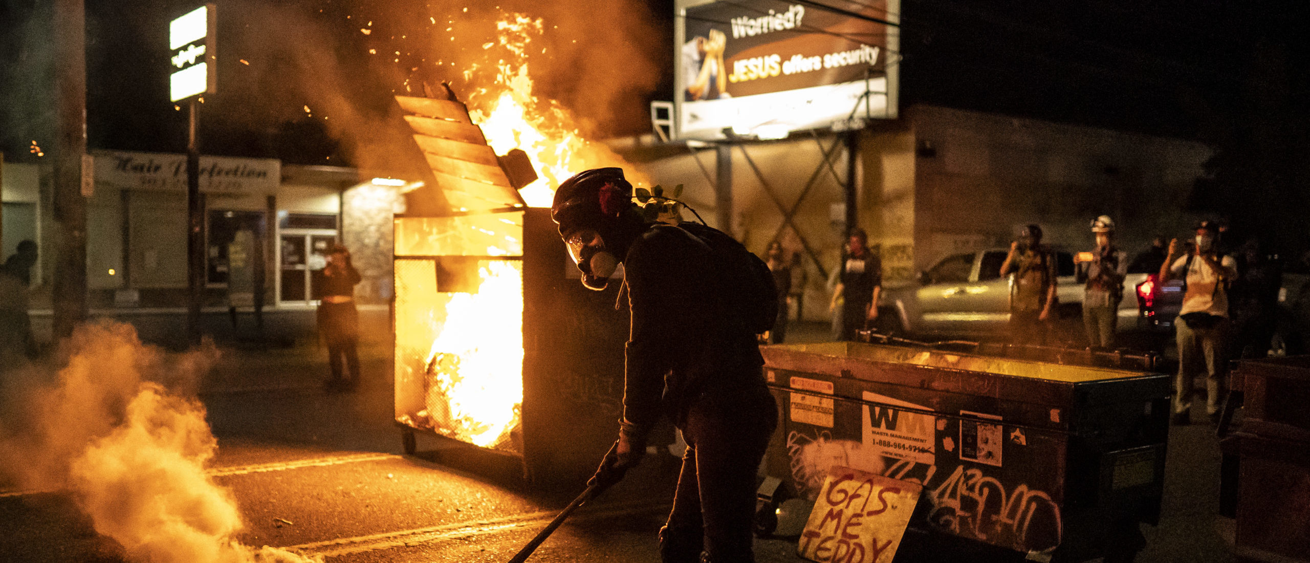 Portland Man Charged With Arson For Lighting Dumpster On Fire During Riot   The Daily Caller