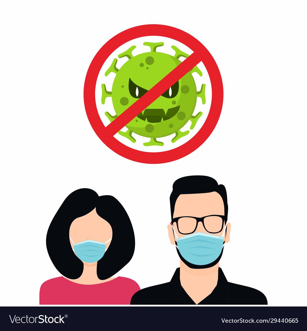 Covid-19 coronavirus 2019-ncov concept man and Vector Image