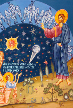 Icon of The Creation of the Stars - (11T08) - Uncut Mountain Supply