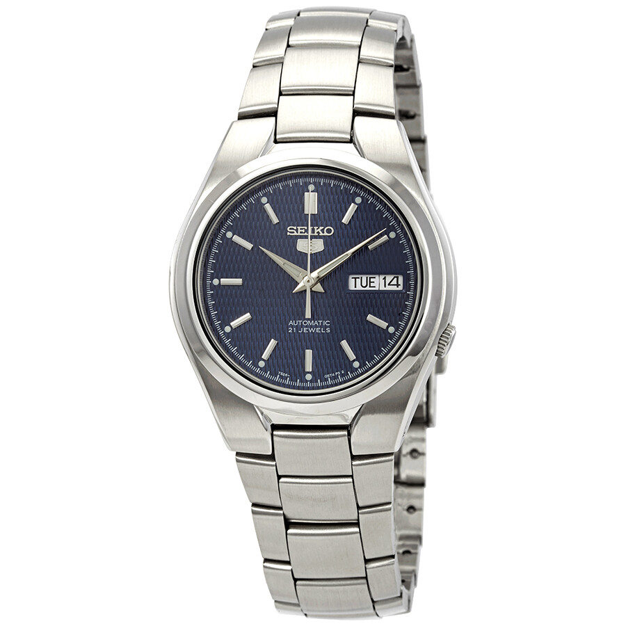 Seiko Series 5 Automatic Blue Textured Dial Men's Watch ...