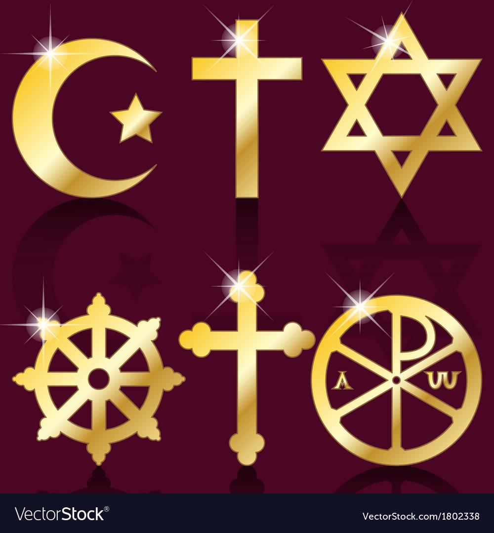 Religious symbols Royalty Free Vector Image - VectorStock