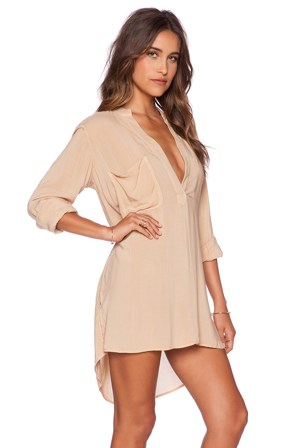 Lyst - Blue Life Shirt Dress in Brown