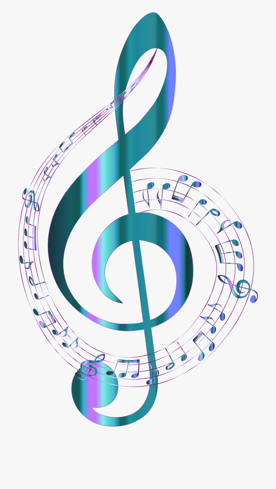 Library of colorful music notes banner transparent stock no background png files Clipart Art 2019