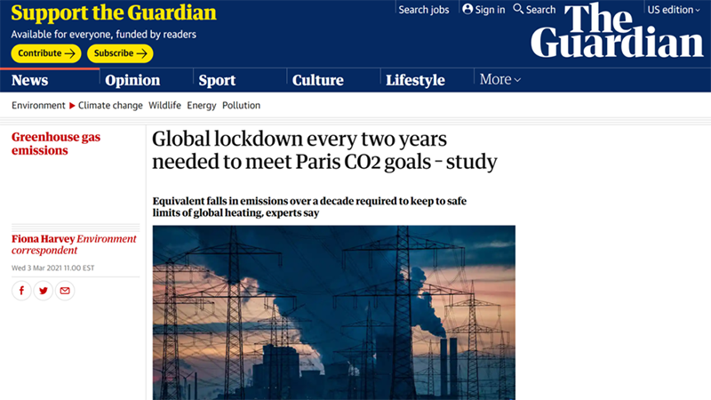 """Guardian Promotes """"Global Lockdown"""" Every Two Years To ..."""