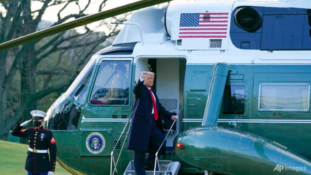 Trump leaves White House for the last time as US president ...