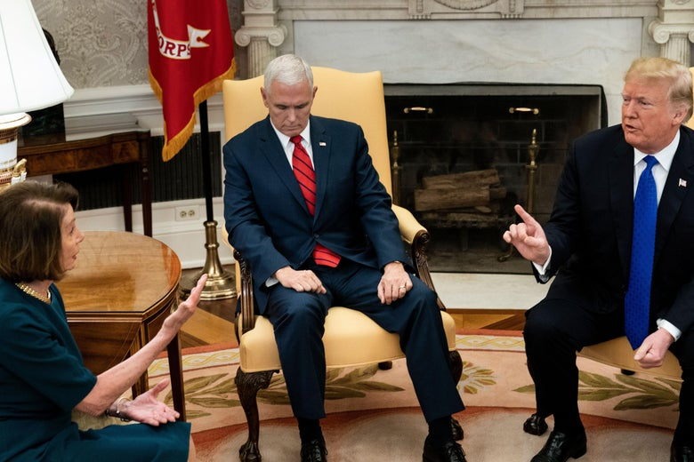 Mike Pence mocked for reaction to Pelosi-Schumer-Trump fight.