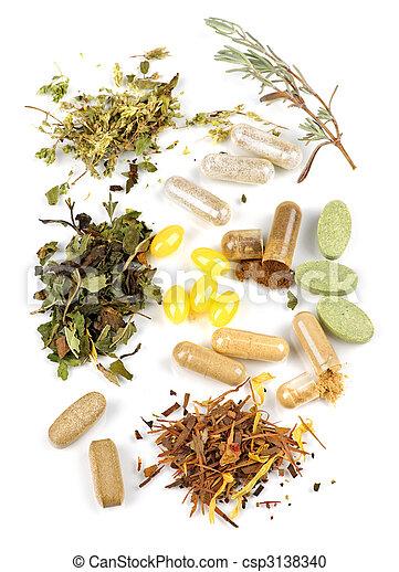 Herbal supplement pills. Herbs, herbal supplements and ...