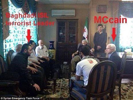 Isis Leader Pictured With John McCain | consciousshift2012
