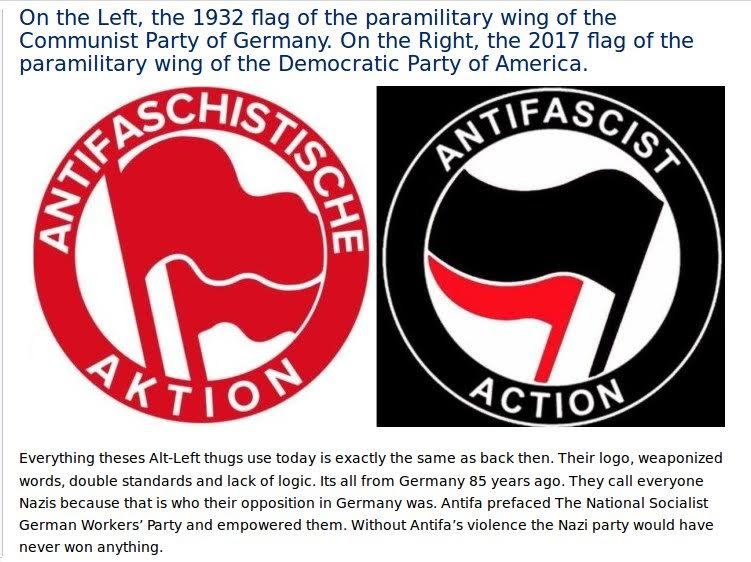 AntiFa and communist flags are the same | Meme