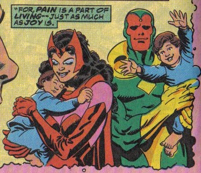 Superhero Romance of the Week: Vision and the Scarlet ...