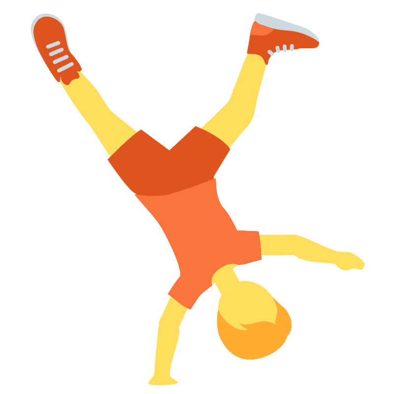 Person cartwheeling emoji clipart. Free download transparent .PNG | Creazilla