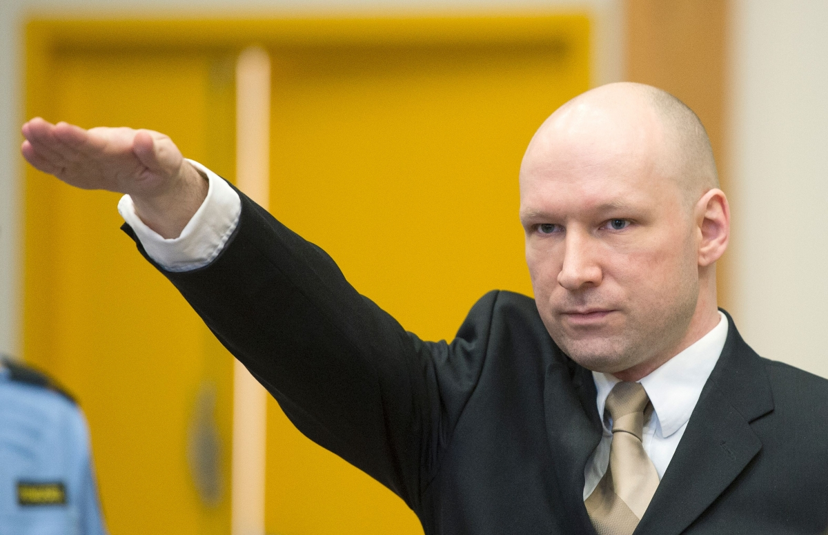 Anders Breivik gives Nazi salute on return to court as he sues Norway ...
