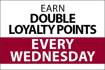 Earn Double Loyalty Points just for Dining with Us!