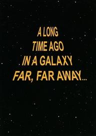 Buy Star Wars: Birthday Card - A Long Time Ago In A Galaxy ...