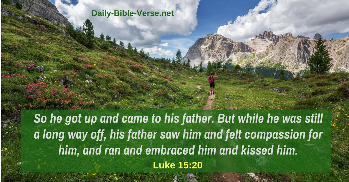 Daily Bible Verse | Grace | Luke 15:20