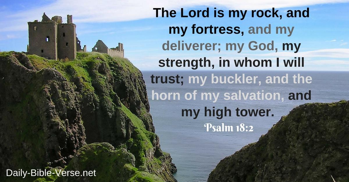 Daily Bible Verse | God | Psalm 18:2