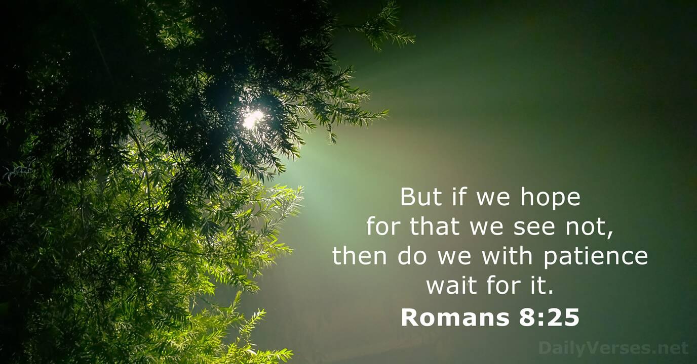 Romans 8:25 - KJV - Bible verse of the day - DailyVerses.net