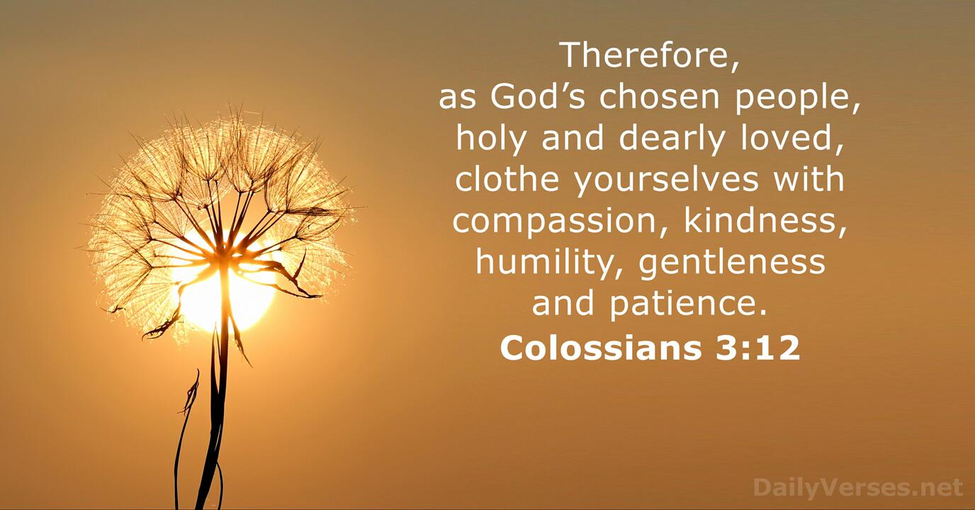 Colossians 3:12 - Bible verse of the day - DailyVerses.net