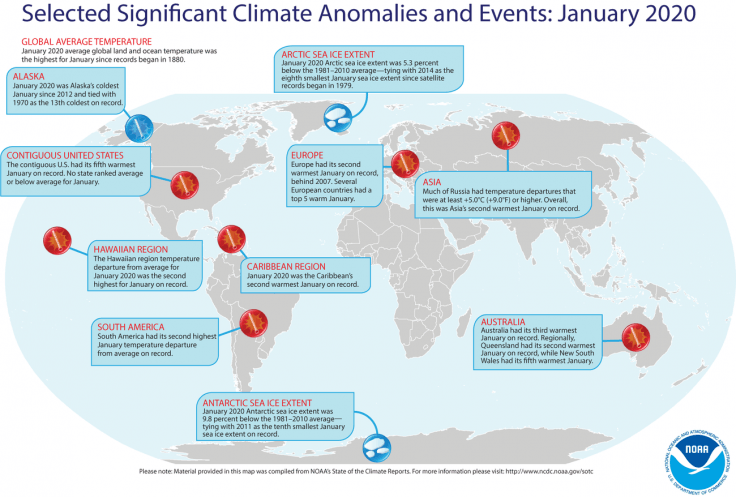 Earth records its hottest January ever; land and ocean ...