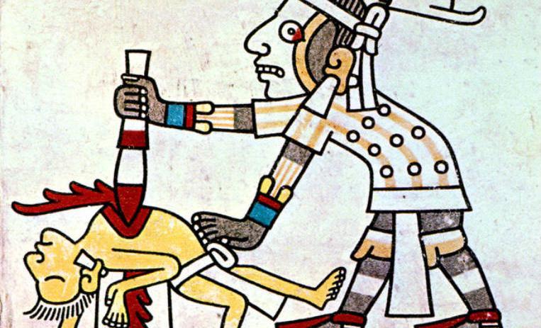 Los sacrificios humanos durante el Imperio Azteca   De10