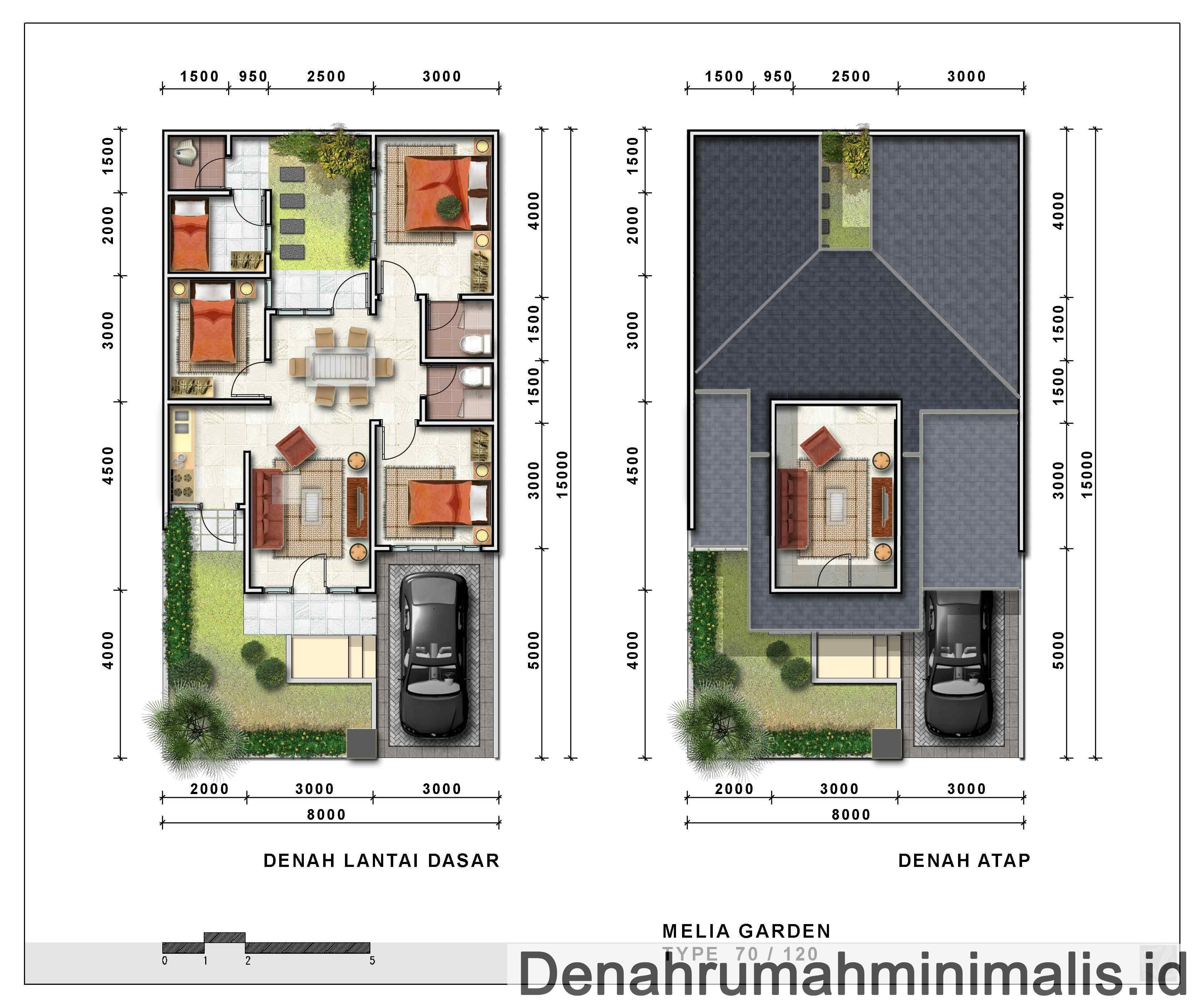 Desain Denah Rumah Minimalis 2 Lantai Sederhana Lengkap ...