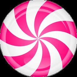 Pink Peppermint Candy Sticker