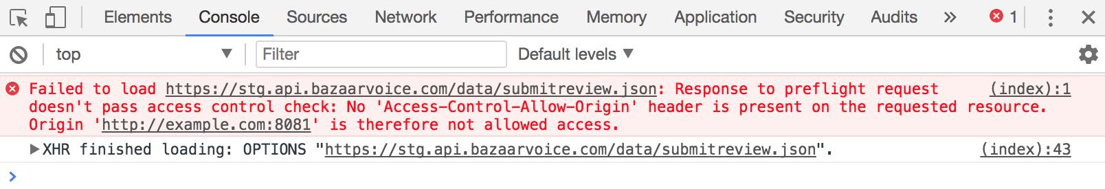 Bazaarvoice Developer Portal | CORS