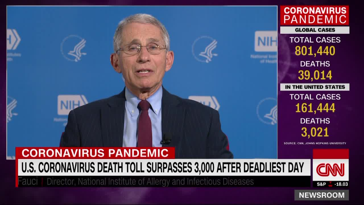 """Fauci: We see """"glimmers"""" that social distancing is working"""