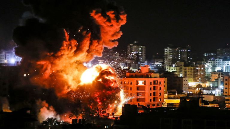 Israeli forces launch massive attack on Gaza…