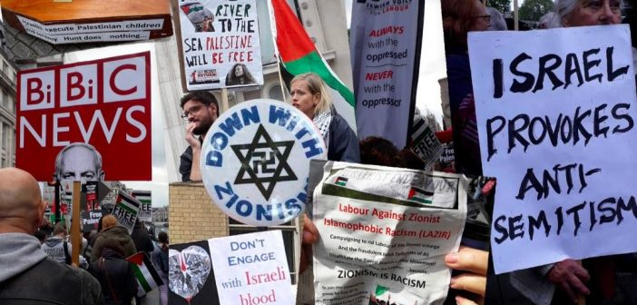 Anti-Semitism and Israel-hatred at pro-Palestinian march ...