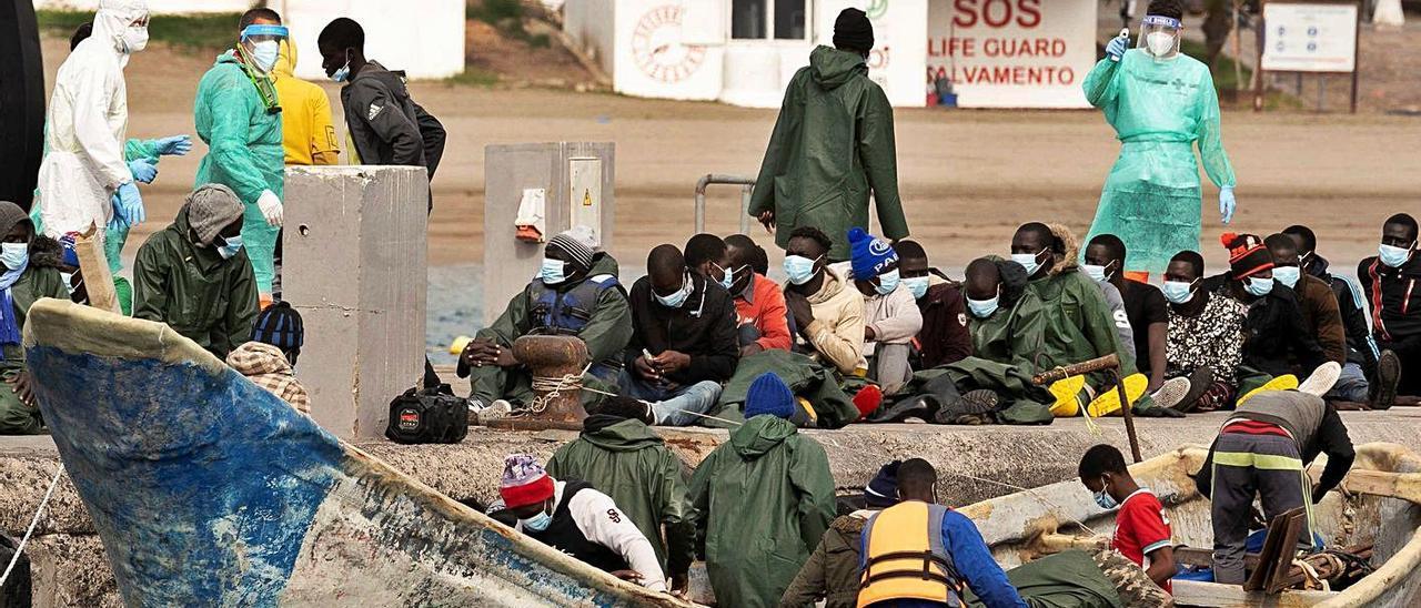 Solo en 2020 llegan más del doble de migrantes que en los ...