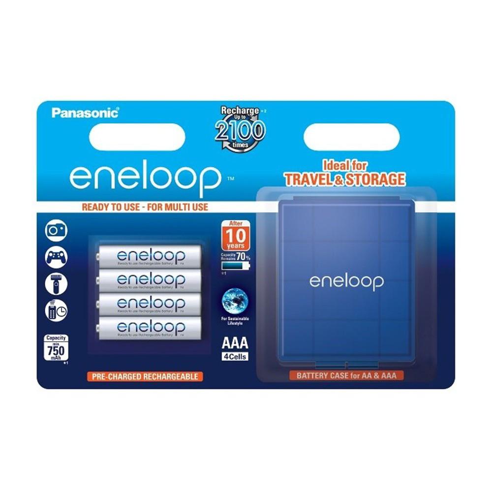 AAA R3 Panasonic Eneloop Rechargeable Batteries + Free ...