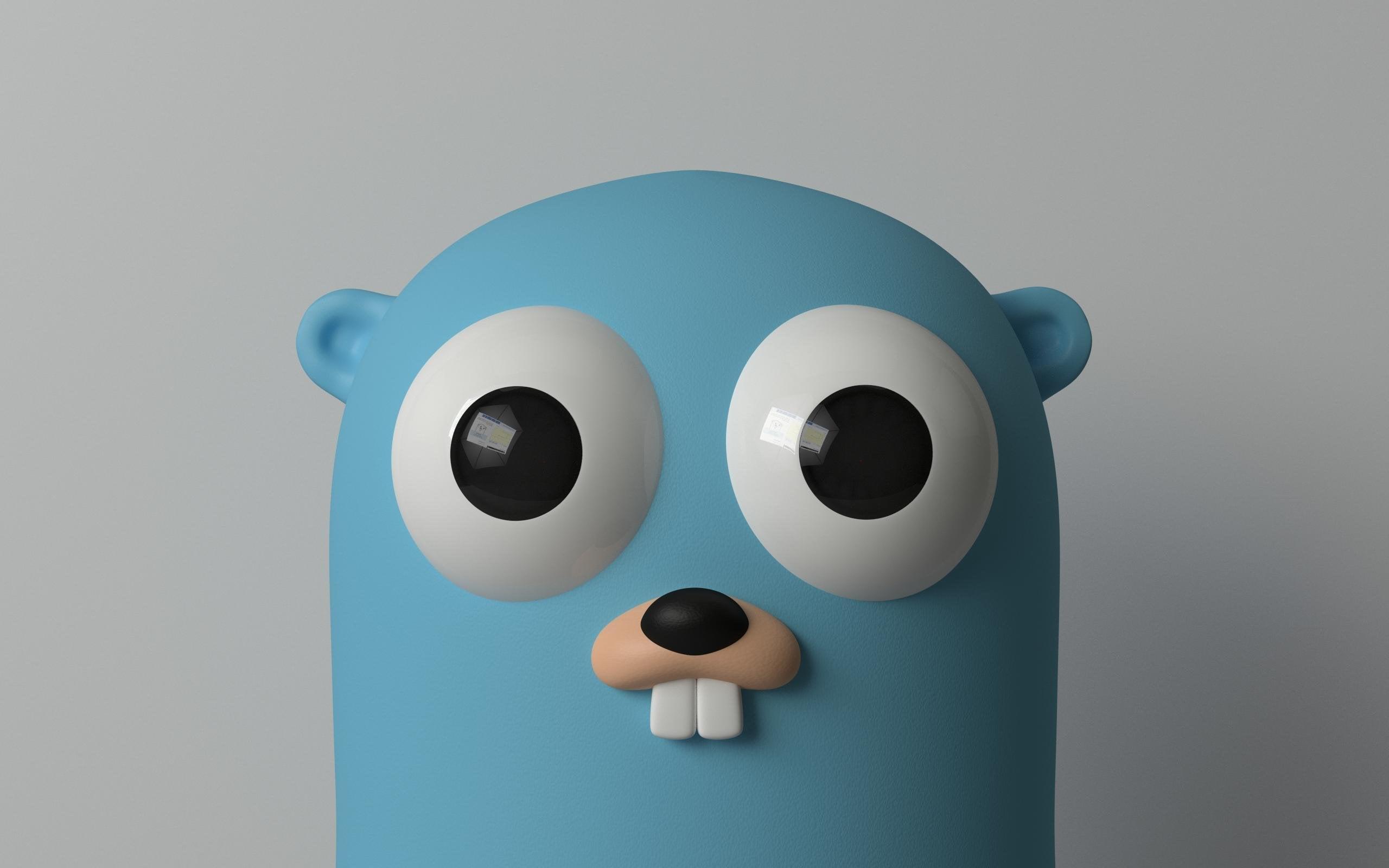 Gopher mascot wallpaper : golang