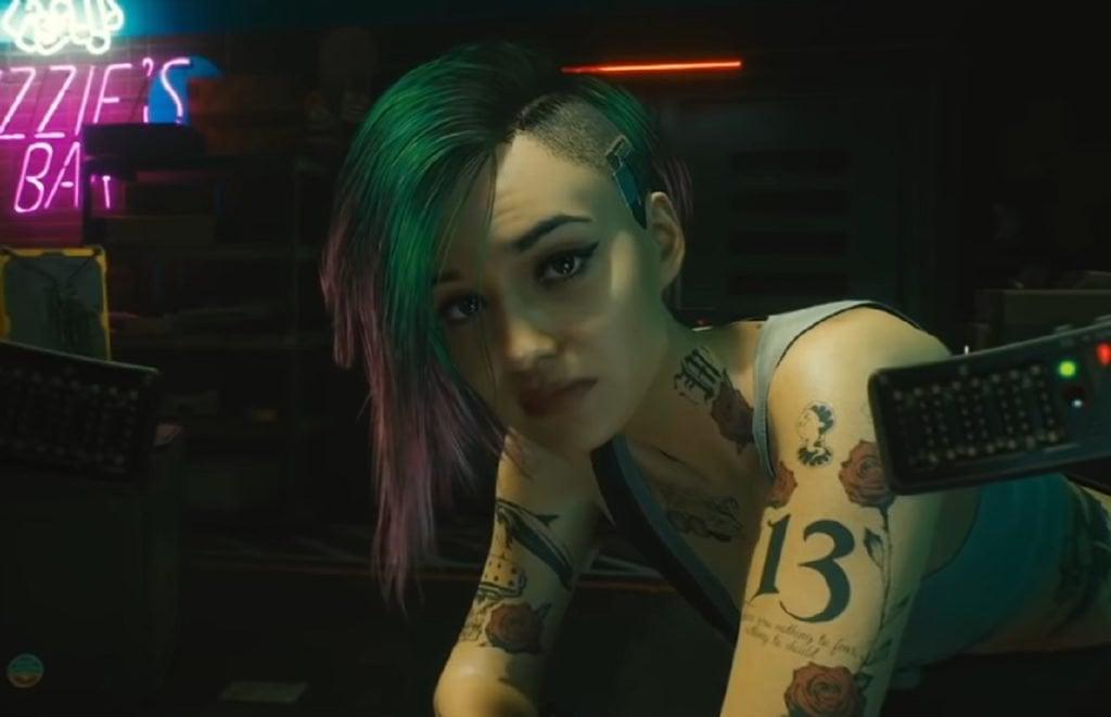 Judy Alvarez, from Cyberpunk 2077, is goals. : transitiongoals