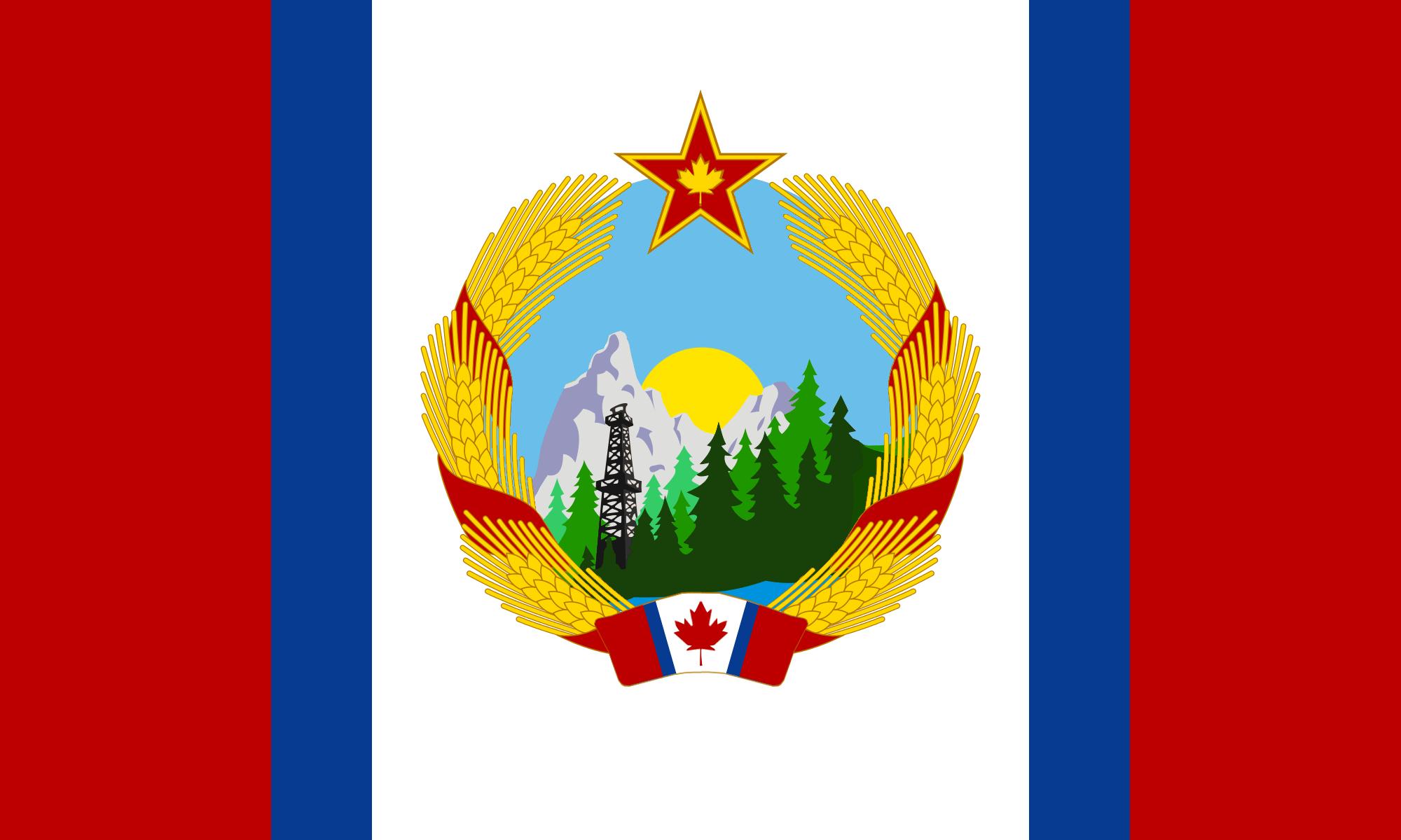A Communist Canadian Flag : vexillology