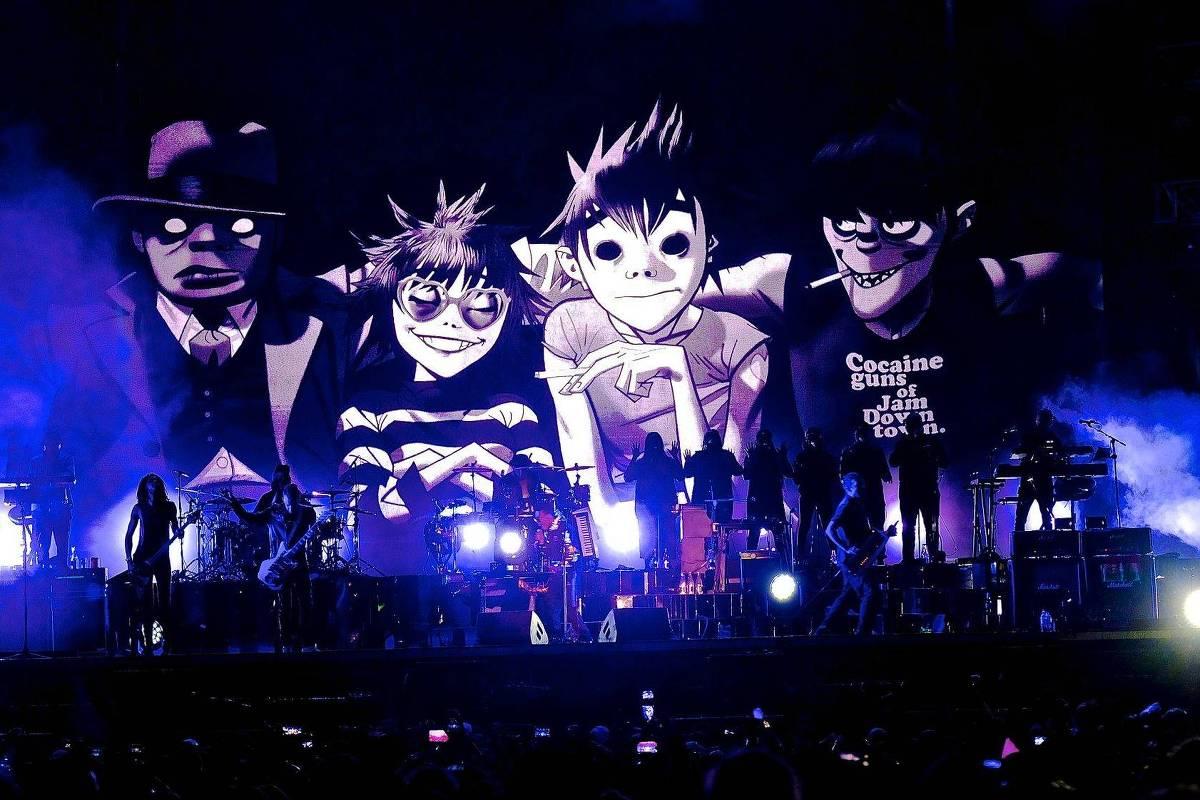 Banda virtual Gorillaz se apresenta nesta sexta pela ...