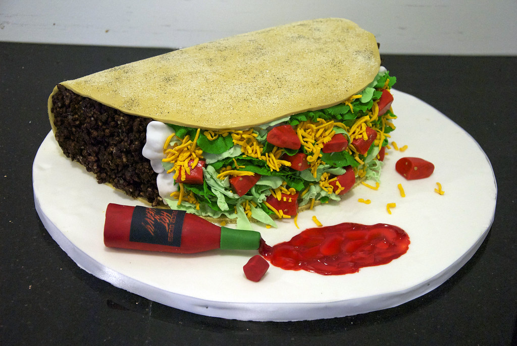 huge taco birthday cake - a photo on Flickriver