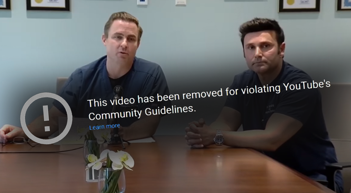 YouTube's Censorship of Dissenting Doctors Will Backfire ...
