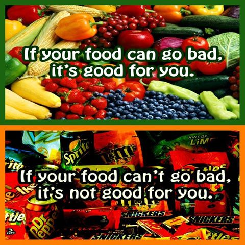 #MondaMantra If your food can go bad, it's Good for you ...
