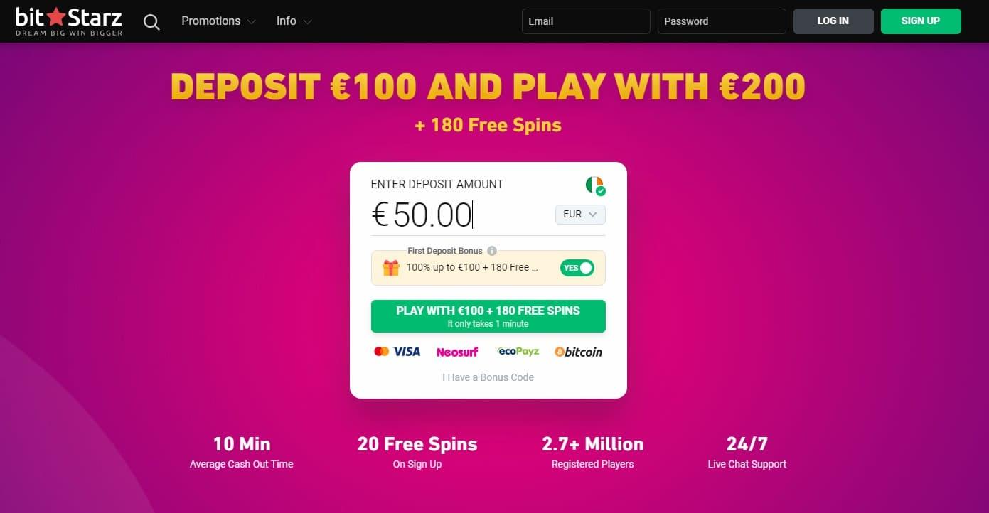 Bei Bitstarz Casino können Sie spielen und auf fast jede Währung wetten