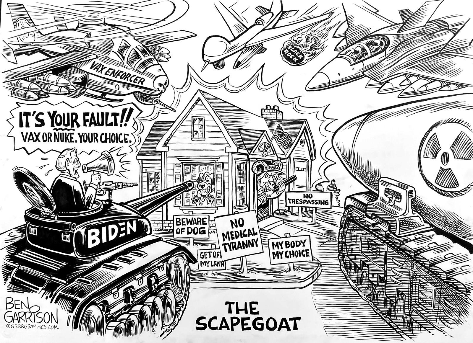 Biden's Scapegoat, The Unvaccinated - Grrr Graphics